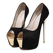 Mujer Zapatos Sintético Verano Tacón Stiletto Plataforma Para Vestido Fiesta y Noche Blanco Negro Rosa