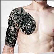 Tělo make-up levé rameno dočasné tetování samolepky (2ks)