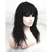 African American style prirodni pahuljasto duga crna kovrčava kosa vlasulja