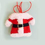 2個クリスマスの飾り幸せサンタ銀ホルダーポケットディナー装飾festas