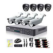 Liview®700TVL屋外デイ/ナイト防犯カメラと8CH HDMI 960HネットワークDVRシステム