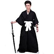 Inspirado por Cosplay Cosplay Animé Disfraces de cosplay Trajes Cosplay Kimono Un Color Ropa Interior Cinturón Chaqueta de Kimono Hakama
