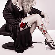 2 Tatuajes Adhesivos Series de Flor / Serie de dibujos animados Non Toxic / Modelo / Talla Grande / WaterproofMujer / Hombre / Adulto /