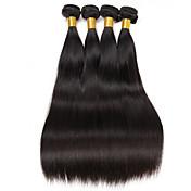 6aブラジルのバージンヘア4バンドル200gストレートヒトの毛バージンブラジルのストレートヘア