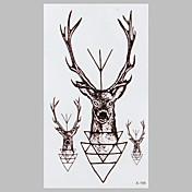 1 Tatoveringsklistermærker Ikke Giftig Mønster VandtætDame Herre Voksen Teenager Flash tatovering Midlertidige Tatoveringer