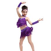 Budeme latinské taneční oblečení děti výkon spandex / polyester roztomilý střih (y) taneční kostýmy