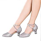 Zapatos de baile(Negro / Plata / Oro / Multicolor) -Latino-No Personalizables-Tacón Cubano