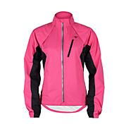 TASDAN サイクリングジャケット 女性用 バイク ウインドブレーカー レディースジャケット ジャケット トップス 防水 防風 透湿性 防水ファスナー 高通気性 反射性ストリップ 後ポケット ポリエステル100% PUレザー パッチワーク サイクリング/バイク ランニング