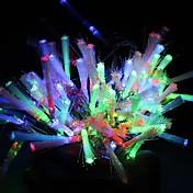 100主導の10メートル多色繊維LEDストリングライト8スパークモード(220V)