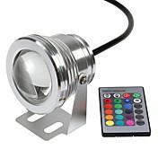 10W Undervandslamper 800-1000 lm RGB Højeffekts-LED Fjernstyret / Vandtæt DC 12 V 1 stk