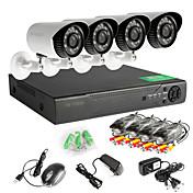 屋外CCTVセキュリティカメラシステムAHD 8chの960Hネットワークのdvr 4本