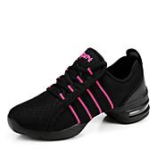 Zapatos de baile(Negro / Rojo / Blanco) -Zapatillas de Baile-No Personalizables-Tacón Cuadrado