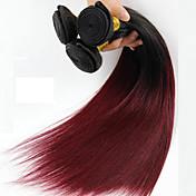 El pelo humano recto de 1 pedazo teje el pelo humano brasileño de la textura teje derecho