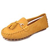 Ženske Ravne cipele Udobne cipele Flis Ljeto Kauzalni Udobne cipele S resicama Ravna potpetica Watermelon Braon Zelen Plava Burgundac
