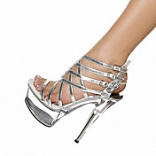 Mujer-Tacón Stiletto Plataforma Tacón de cristal-Plataforma Gladiador Zapatos del club Light Up Zapatos-Sandalias-Boda Exterior Informal