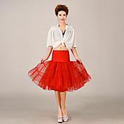 Spodničky Plesový střih Ke kolenům 3 Tyl Polyester Žlutá Červená Modrá Růžová Námořnická modř