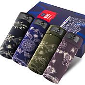 SHINO® Algodón / Fibra de Carbono de Bambú Boxers Cortos 4 (4 Pcs/Box)-F015-A