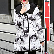 婦人向け 長袖 パッド入り コート,ストリートファッション ポリエステル