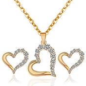 Jewelry Ogrlice / Füllbevalók Ogrlica / Naušnice Vjenčanje / Party / Dnevno / Kauzalni 1set Žene Zlatna Vjenčanje Pokloni
