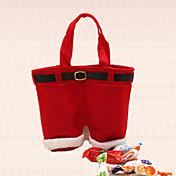 decoración del bolso del pantalón Noel liga caramelos de regalo de vacaciones del partido de cena 1pc santa de la Navidad