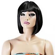 neitsi女性の女の子が短い合成毛のかつら160グラム/ PC黒色コスプレ