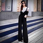 Pantalones Chinos sólido de las mujeres de color rosa muñeca, simple / sofisticada