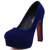 Mujer-Tacón Stiletto-Tacones-Tacones-Fiesta y Noche-Vellón-Negro / Azul