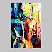 手描きの 抽象的な肖像画 縦長,Modern 欧風 1枚 キャンバス ハング塗装油絵 For ホームデコレーション
