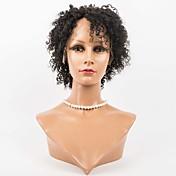 Mujer Pelucas de Cabello Natural Cabello humano Encaje Frontal Frontal sin Pegamento 130% Densidad Suelto Peluca Negro Azabache Negro