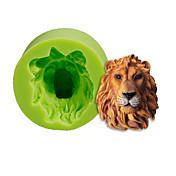 ライオンズヘッドシリコーン金型ケーキの装飾を焼く砂糖菓子ツールポリマー粘土fimoフォンダンは色をランダムに作る