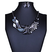 ジュエリーセット ネックレス/イヤリング セクシー ファッション 欧風 ブラック パープル グリーン ブルー ネックレス イヤリング・ピアス のために 結婚式 パーティー 日常 カジュアル 1セット ウェディングギフト