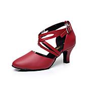 Zapatos de baile(Negro / Rojo) -Latino-Personalizables-Tacón Bajo
