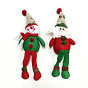 navidad adornos de nieve&Papá Noel 2pcs