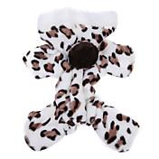 ネコ 犬 パーカー ジャンプスーツ パジャマ 犬用ウェア キュート カジュアル/普段着 ヒョウ柄 Brown ピンク