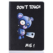 のために カードホルダー / スタンド付き / フリップ / パターン ケース フルボディー ケース アニマル ハード PUレザー Apple iPad 4/3/2
