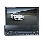 7 pulgadas de pantalla táctil LCD 1din panel digital reproductor de DVD del coche de apoyo ipod.bluetooth.stereo pantalla radio.gps.touch