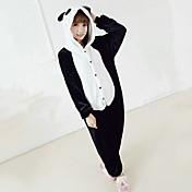 Kigurumi Pijamas Oso Panda Leotardo/Pijama Mono Festival/Celebración Ropa de Noche de los Animales Halloween Negro / blancoRetazos