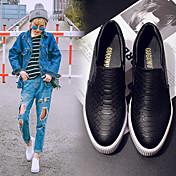 MujerConfort-Zapatos de taco bajo y Slip-Ons-Casual-PU-Negro / Blanco