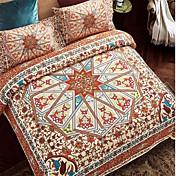 bedtoppingsの4本は、クイーン1掛け布団羽毛布団掛け布団カバー/ 1フラットシート/ 1枕カバー固定設計ポリボヘミアンスタイルを設定します