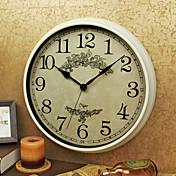 レトロ風 家族 壁時計,円形 プラスチック 屋内 クロック