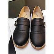 MujerConfort-Zapatos de taco bajo y Slip-Ons-Casual-PU-Negro / Gris