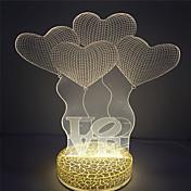 子供たちの愛のデザイン、3D効果のための最高の贈り物は、夜の光を主導しました