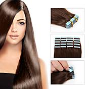 8aテープヘアエクステンション20本/ロットテープの皮膚レミー人間の毛weftシルキーストレートブラジルの毛100%人間の髪weft