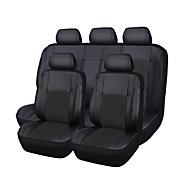 cuero de la PU 5 fundas de asientos completos ajuste negro mayoría de los coches ZT-0012-10