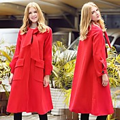 ヨーロッパGP 2016年秋と冬服時、大きなウールのコートの女性に置く単語のシャンniziコートスリム気質の長いセクション