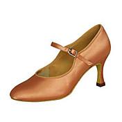 Zapatos de baile(Negro Blanco Caqui Almendra) -Latino Jazz Moderno Salsa Zapatos de Swing-Personalizables-Tacón Personalizado
