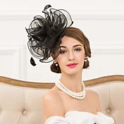 成人用 羽毛 オーガンザ かぶと-結婚式 パーティー カジュアル ヘッドバンド ヘッドドレス 1個