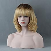 Mujer Pelo humano pelucas sin tapa Negro Azabache castaño medio Amarillo Castaño medio / Bleach Blonde Rubio Beige // Bleach Blonde Corto