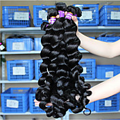 Cabello humano Cabello Brasileño Tejidos Humanos Cabello Suelto Extensiones de cabello 3 Piezas Negro Negro
