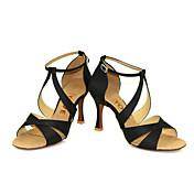 Zapatos de baile(Negro Azul Amarillo Rosa Morado Rojo Blanco) -Latino Salsa-Personalizables-Tacón Personalizado
